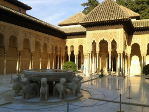 Alhambra de Granada, patio de los leones